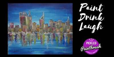 Painting Class - Perth City Skyline - July 21, 2019