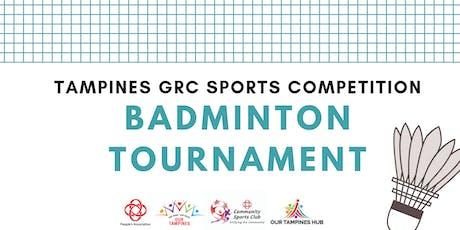 Tampines GRC Badminton Tournament tickets