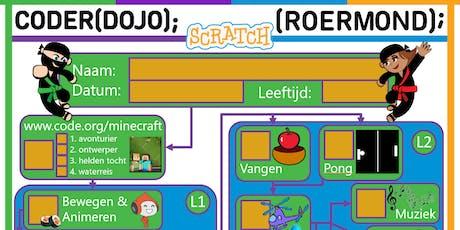 CoderDojo Roermond #3 | Spelen met Scratch tickets