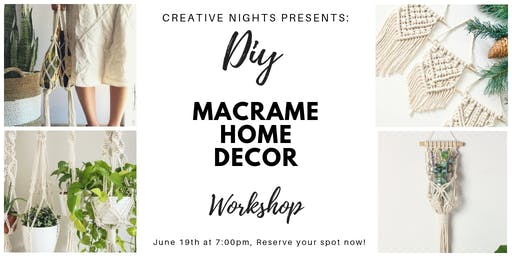 DIY Macrame Home Decor by Creative Nights