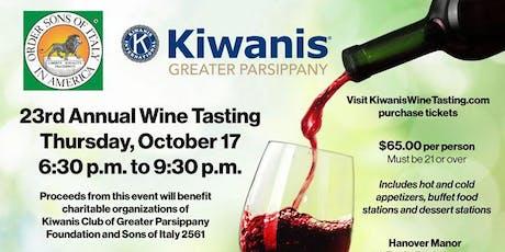 Kiwanis Wine Tasting Fundraiser tickets