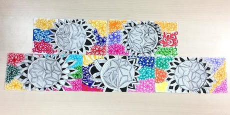 Zentangle Crash Course for Kids Aged 7 and Above: 25th to 28th June 2019 tickets