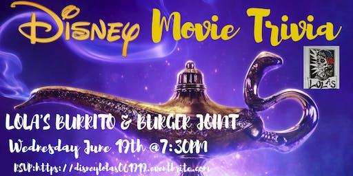 Disney Movie Trivia at Lola's Burrito & Burger Joint