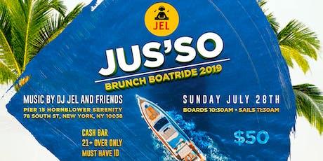 Jusso Brunch Boatride 2019  tickets