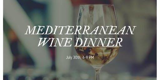 Mediterranean Wine Dinner