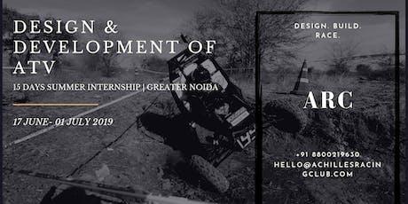 Summer Internship | Design & Development of ATV | Greater Noida tickets