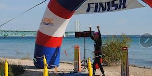 Mighty Mac Swim Finish Line Celebration