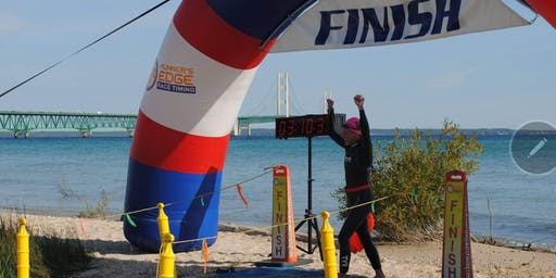 Mighty Mac Swim Finish Line Celebration