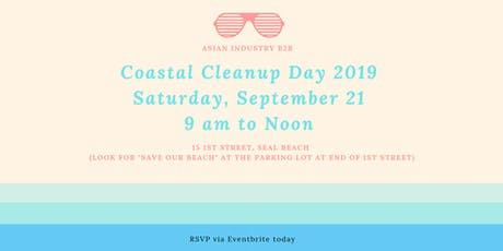 "AIB2B Presents ""Coastal Cleanup Day 2019"" tickets"