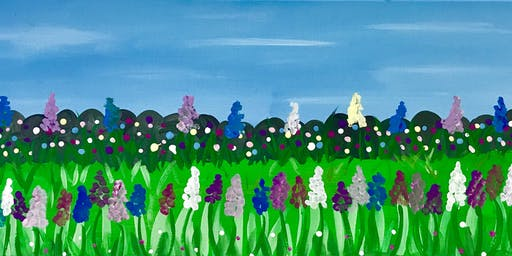 "Adult Open Paint (18yrs+) ""Hyacinth Garden""   (New Canvas Siz"