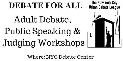 NYC Adult Debate Workshops