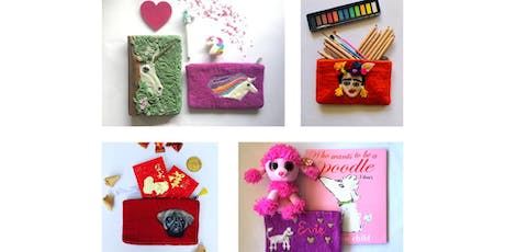 Needle felting on a purse/pencil case (kids workshop) tickets