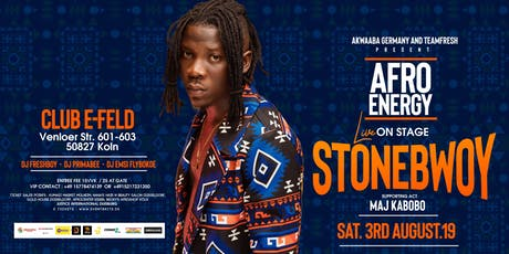 AFRO ENERGY - STONEBWOY IN KÖLN Tickets