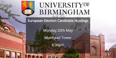 European Election Candidate Hustings (University of Birmingham)