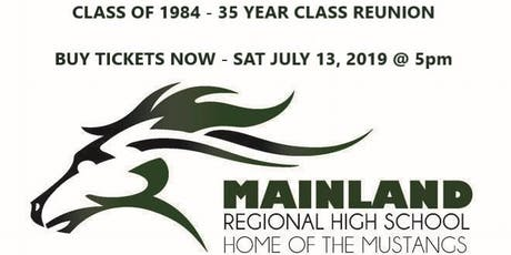 MRHS - Class of 1984 - 35 Year Reunion tickets