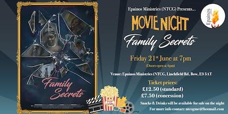 Movie Night: Family Secrets tickets