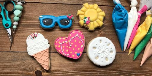 Summer Beach Themed Cookie Decorating Class
