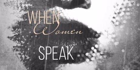LIVE  When Women Speak - Eloquently VENDING ONLY tickets