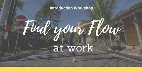 Find your flow at work - Introduction workshop tickets