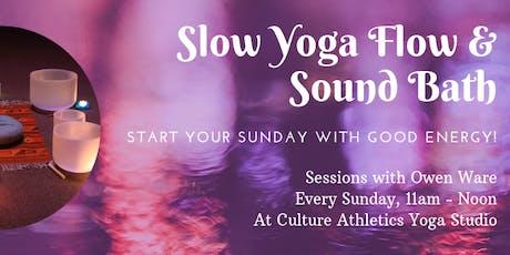 Slow Yoga Flow & Sound Bath tickets