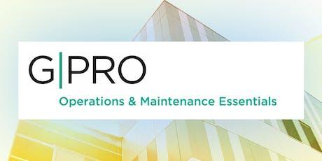 GPRO Operations and Maintenance Essentials Training tickets