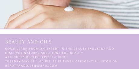 Beauty and Oils tickets