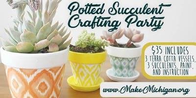 Potted Succulent Crafting Party - Wyoming
