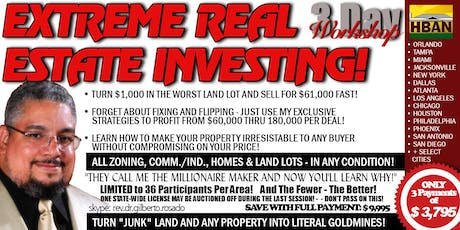Chandler Extreme Real Estate Investing (EREI) - 3 Day Seminar tickets