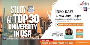 STUDY AT TOP 30 UNIVERSITY IN USA - Info Day Surabaya
