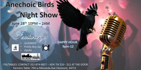 Anechoic Birds Night Show tickets