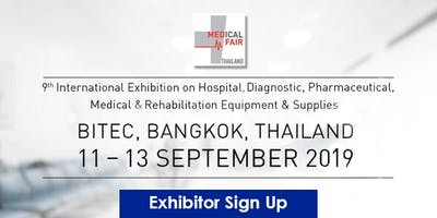 Medical Fair Thailand 2019 - Exhibitor signup!