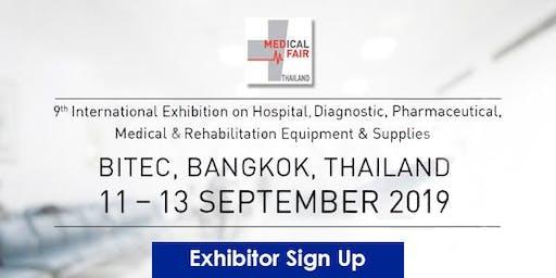 Medical Fair Thailand 2019 - Exhibitor signup!