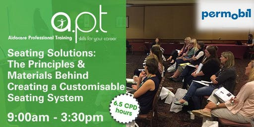 Toowoomba APT Seminar: Seating Solutions: The Principles & Materials Behind Creating a Customisable Seating System