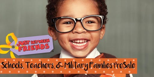 SCHOOLS, TEACHERS, & MILITARY FAMILIES PRESALE - Just Between Friends Cypress Fall Sale 2019 (October 24-26)