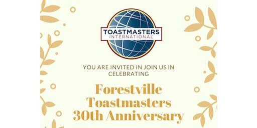 Forestville Toastmasters 30th Anniversary Dinner