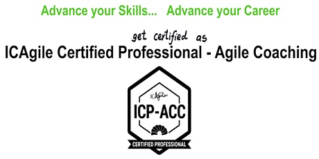 ICAgile Certified Professional - Agile Coaching (ICP ACC) Workshop - Lisbon Portugal bilhetes