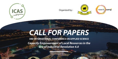 3rd International Conference for Applied Science (ICAS) tickets