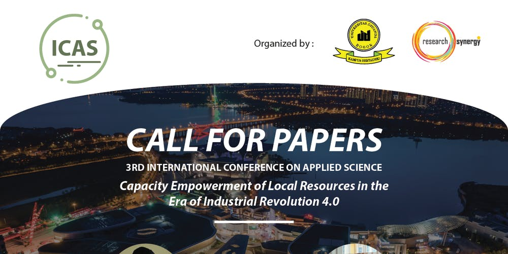 3rd International Conference for Applied Science (ICAS) Tickets, Mon
