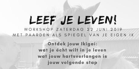 LEEF JE LEVEN! workshop tickets