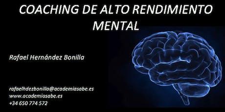 Coaching Alto Rendimiento Mental (Primera Sesión Online o Presencial GRATIS ) entradas