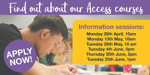 Access to Higher Education Information Sessions