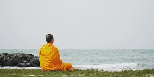 Meditation on the beach with guidance