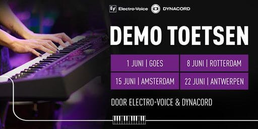 Demo Toetsinstrumenten door Electro-Voice & Dynacord