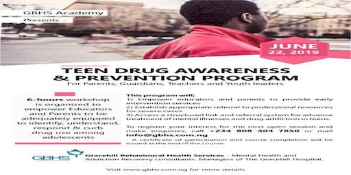 TEEN DRUG AWARENESS AND PREVENTION PROGRAM