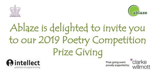 Ablaze 2019 Poetry Competition Celebration Event