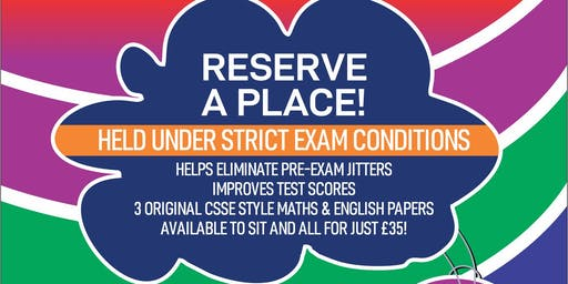 11 Plus Mock Exams: Southend, Leigh on Sea, Basildon etc - CSSE Style Paper