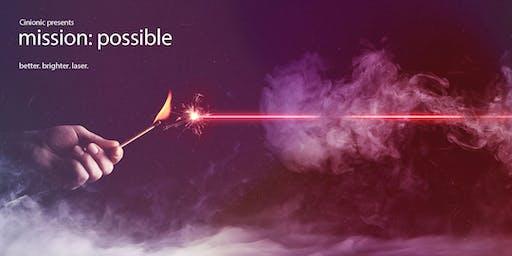 Cinionic Tech talk: Laser as a Service (Wednesday)