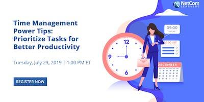 Webinar - Time Management Power Tips