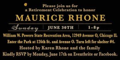 Cheers to 30 years! Maurice Rhone's Retirement Celebration