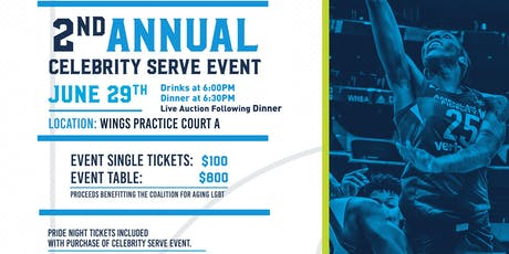 2nd Annual Celebrity Serve Dallas Wings Benefiting the Coalition for Aging LGBT tickets